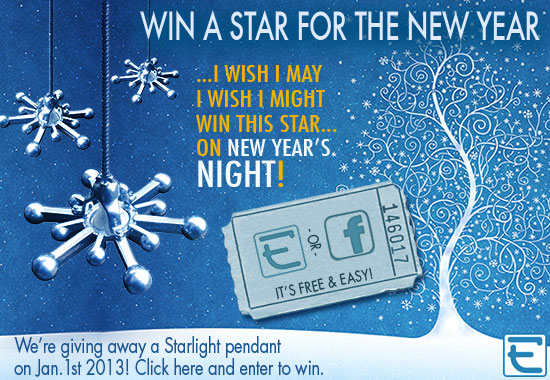 Welcome to your chance to win an Eleek Starlight pendant this New Year's Eve--click here, it's easy!