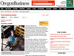 Oregon Business Magazine: Greenlighting design